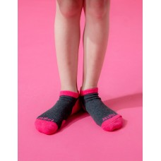 兒童運動船短襪-桃紅