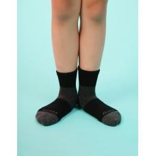 輕壓力網狀運動氣墊襪-黑色