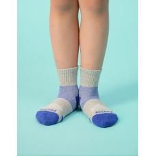 輕壓力網狀運動氣墊襪-灰色