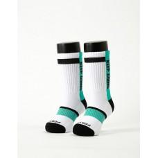 天生贏家運動氣墊襪-白色-M