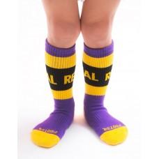 率性自我運動氣墊襪-紫色-M