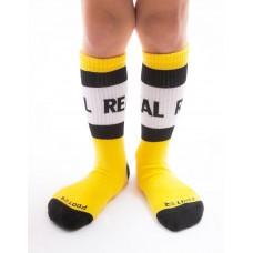 率性自我運動氣墊襪-黃色-M