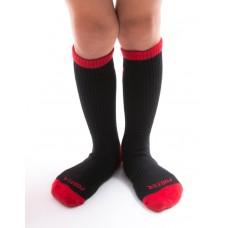 做自己運動氣墊襪-紅色