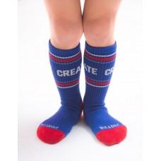 突破界線運動氣墊襪-藍色