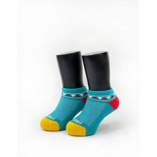 經典圖騰運動氣墊襪-黃頭