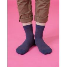Old School紳士長薄襪-藍色
