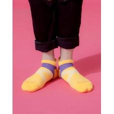 X型雙向減壓足弓船短襪-黃色