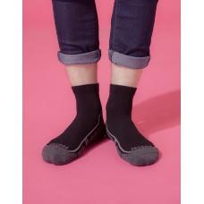 流線型氣墊減壓科技襪-黑色