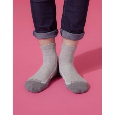 流線型氣墊減壓科技襪-灰色