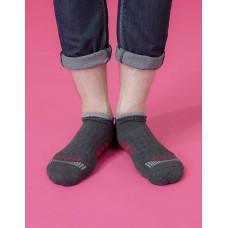 輕壓力三線運動除臭襪-灰色