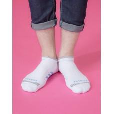 輕壓力三線運動除臭襪-白色