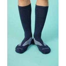 Y系列中統運動機能輕壓力襪 - 藍色