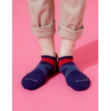 X型雙向減壓足弓船短襪-深藍