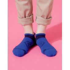 雙側翼護足輕壓力船短襪-藍色