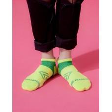 雙側翼護足輕壓力船短襪-綠色