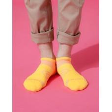 雙側翼護足輕壓力船短襪-黃色