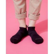 X型減壓經典護足船短襪 - 黑色