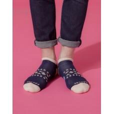 冒險家輕壓力減壓船短襪-藍色
