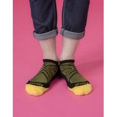 X戰隊輕壓力船短襪-黃色