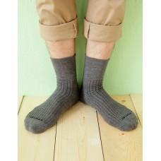 微分子氣墊紳士素面寬口襪-深灰