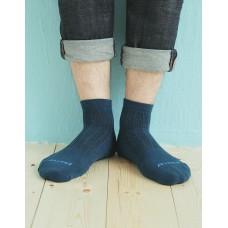 輕壓力氣墊機能襪-藍色