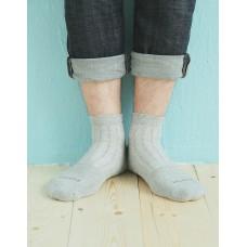 輕壓力氣墊機能襪-灰色