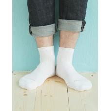 輕壓力氣墊機能襪-白色