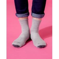 螺旋氣墊輕壓力襪-灰色