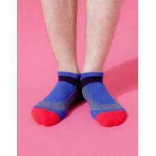 輕壓力T字網狀足弓船短襪-藍色