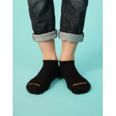 襪口V型氣墊運動船短襪-黑色