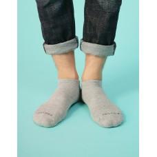襪口V型氣墊運動船短襪-淺灰