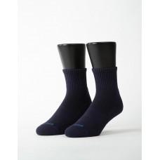 素色美學氣墊運動襪-深藍