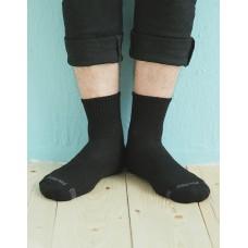 單色運動逆氣流氣墊襪-黑色-XL加大款