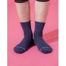 單色運動逆氣流氣墊襪-藍色