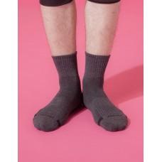 單色運動逆氣流氣墊襪-深灰