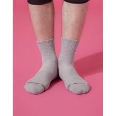 單色運動逆氣流氣墊襪-淺灰