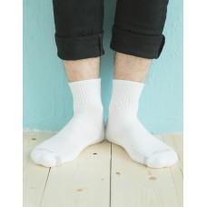 單色運動逆氣流氣墊襪-白色-XL加大款