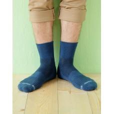寬口運動逆氣流氣墊襪-藍