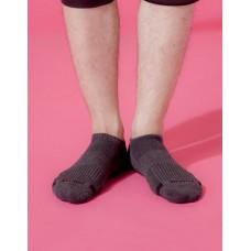 單色運動逆氣流氣墊船短襪-深灰