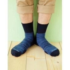 花紗設計款氣墊運動襪-藍色