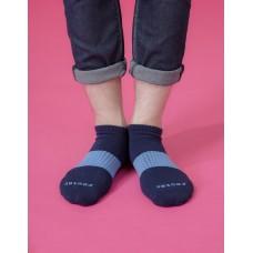 時光秘徑運動船短襪-藍色