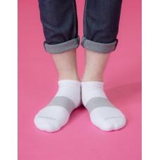 時光秘徑運動船短襪-白色