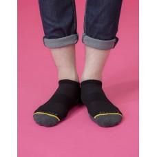 潛意識運動船短襪-黑色