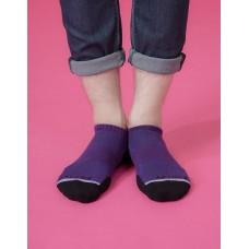潛意識運動船短襪-紫色