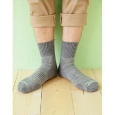 花紗設計款氣墊運動襪-灰色