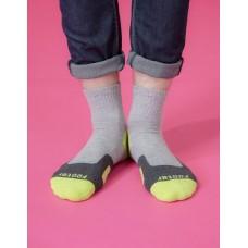 幾何圖形運動氣墊襪-綠色