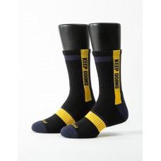 天生贏家運動氣墊襪-黑色