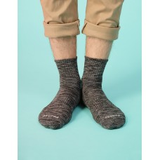 混色潮流氣墊襪-灰黑