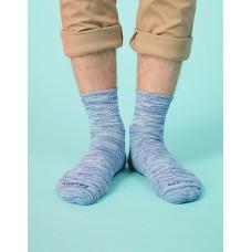 混色潮流氣墊襪-水藍