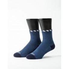 繩結風紋運動氣墊襪-藍色